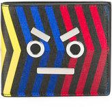 Fendi stripped bi-fold wallet - men - Calf Leather - One Size