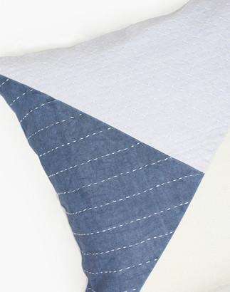 Madewell Anchal Organic Cotton Patchwork Didi Throw Pillow