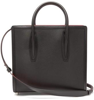 Christian Louboutin Paloma Medium Grained-leather Tote Bag - Womens - Black Multi