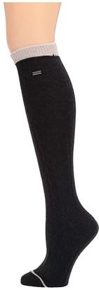 Sorel Novelty Cable Wool Knee High (Black) Women's Crew Cut Socks Shoes