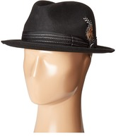 Stacy Adams Pinched Fedora with Stitched Band