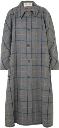 Awake Oversized Checked Wool-blend Coat