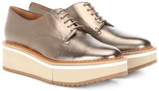 Clergerie Berlin metallic leather Derby shoes