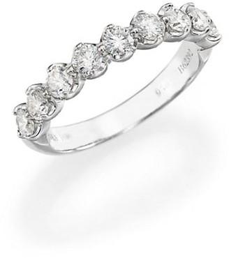 De Beers Allegria Diamond & Platinum Half Band Ring