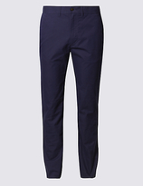 M&S Collection Straight Fit Cotton Rich Trousers