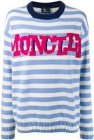 Moncler striped logo knit sweater