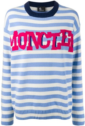 MONCLER GRENOBLE Striped Logo Knit Sweater