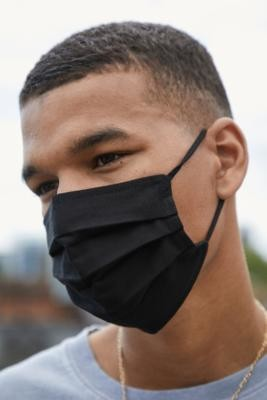 Urban Outfitters Reusable Pleated Face Mask - Black ALL at