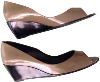 Pierre Hardy Khaki Patent leather Heels