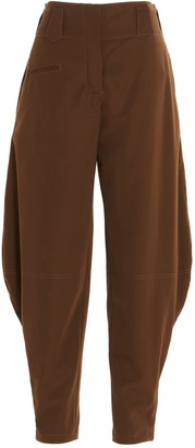 Lanvin Tapered Wide-Leg Pants