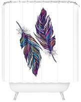 "DENY Designs Stephanie Corfee Corfee Festival Feathers in Purple Shower Curtain by 71""x74"")"
