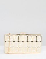 Liquorish Gold Marble Clutch Bag