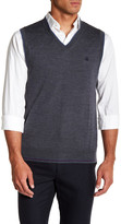 Brooks Brothers Merino Wool V-Neck Vest