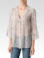 Paige Nora Blouse - Orchid Deep Cider-Meilani Print