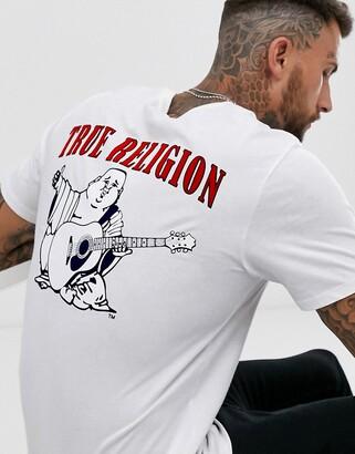 True Religion Buddha logo crew neck t-shirt in white