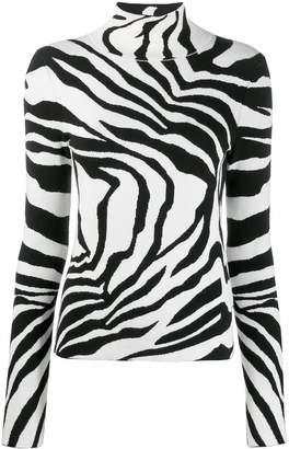 Just Cavalli zebra roll neck jumper