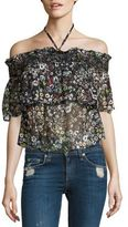 Rebecca Minkoff Ghiradelle Off-the-Shoulder Floral Top