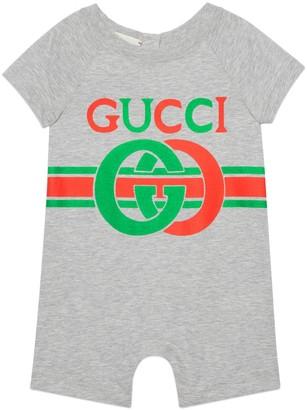 Gucci Baby Interlocking G print cotton one-piece