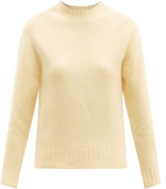 Jil Sander Cropped Boiled Merino-wool Sweater - Yellow