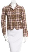 Moschino Cheap & Chic Moschino Cheap and Chic Virgin Wool Plaid Jacket