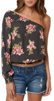 O'Neill Bobbie Flower Print One-Shoulder Top