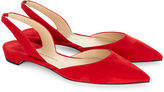 Paul Andrew Red Suede Slingback Rhea Flats