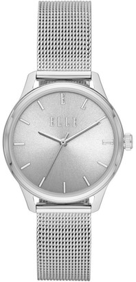 Elle Monceau Silver-Tone Analogue Watch