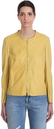 Salvatore Santoro Leather Jacket In Yellow Leather
