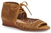 Vince Camuto &Remme& Cutout Lace-Up Wedge Sandal