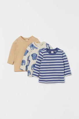 H&M 3-pack Cotton Shirts - Beige