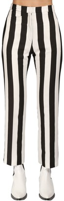 Paco Rabanne Striped Cotton & Viscose Pants