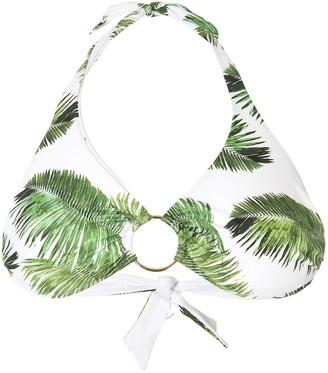 Melissa Odabash Foliage Print Ring Bikini Top