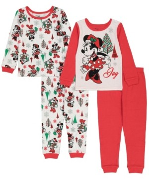 AME Minnie Mouse Toddler Girl 4 Piece Pajama Set