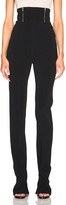 David Koma High Waisted Zip Detail Trousers