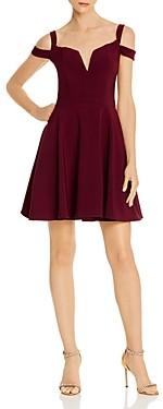 Aqua Off-the-Shoulder Mini Party Dress - 100% Exclusive