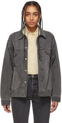 Levi's Levis Grey Denim Dad Trucker Jacket