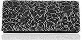 Nina Laser-Cut Satin Rhinestone Clutch