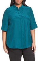 Lafayette 148 New York Plus Size Women's Theodora Silk Blouse