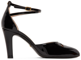 Gucci Black Patent Indy Heels