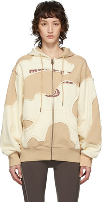 Telfar Khaki and Off-White Camo Zip-Up Hoodie