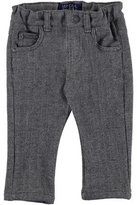 Mayoral Herringbone Straight-Leg Pants, Gray, Size 3-24 Months