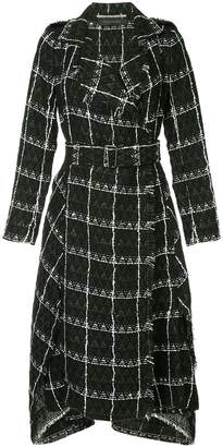 Roland Mouret frayed edge trench coat