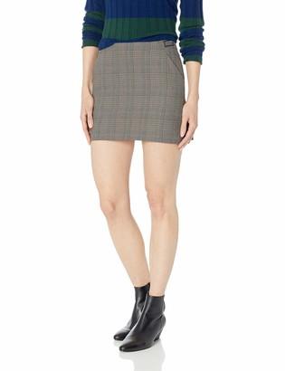 Obey Junior's Ollie Plaid HIGH Waist Mini Skirt