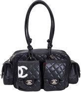 One Kings Lane Vintage Chanel Black Reporter Shoulder Bag