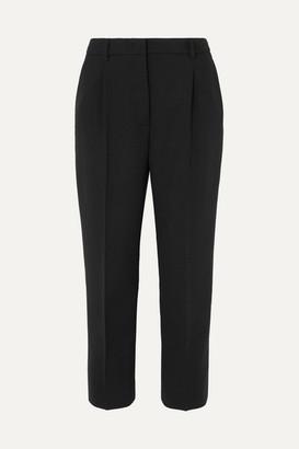 Prada Cropped Stretch-wool Straight-leg Pants - Black