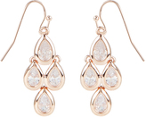 Accessorize Rose Gold Sparkle Droplet Earrings