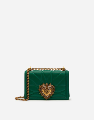 Dolce & Gabbana Medium Matelasse Nappa Leather Devotion Bag