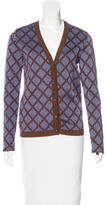 Marni Silk-Blend Patterned Cardigan