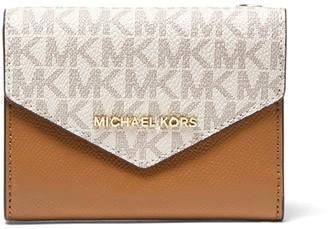 MICHAEL Michael Kors Medium Logo And Leather Envelope Wallet