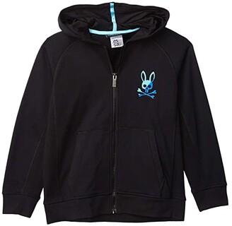 Psycho Bunny Kids Drake Hoodie (Toddler/Little Kids/Big Kids) (Black) Boy's Clothing